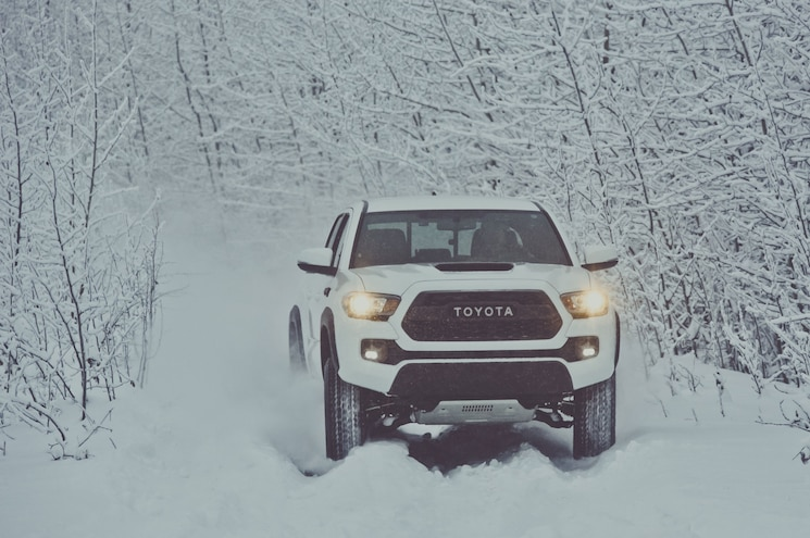 2017 Toyota Tacoma Trd Pro Front View Snow Trail