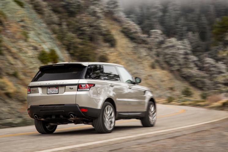 2015 Land Rover Range Rover Sport Rear Three Quarter In Motion