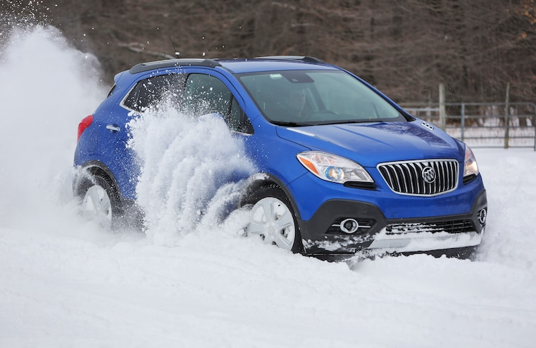 2015 Buick Encore Awd Snow Driving 036