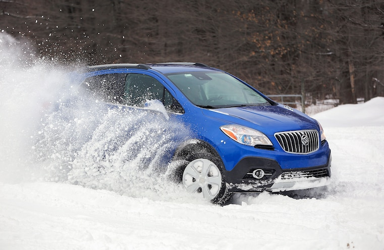 2015 Buick Encore Awd Snow Driving 037