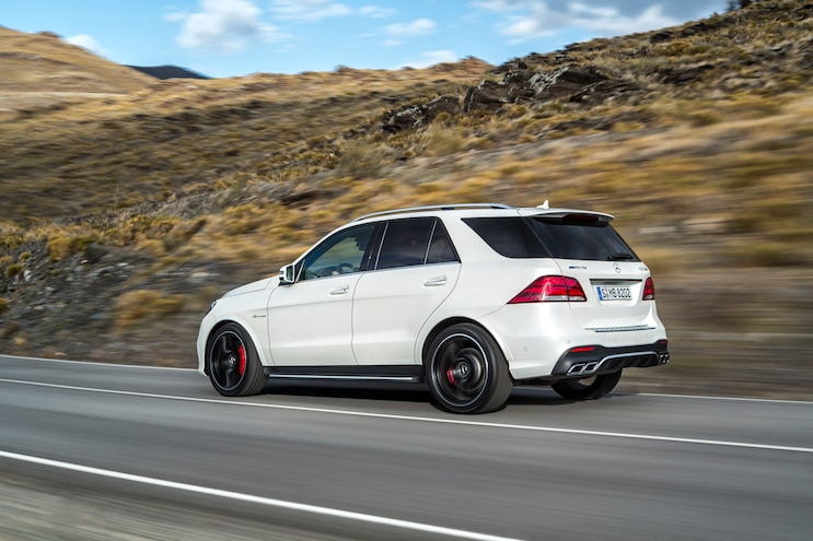 2016 Mercedes Benz GLE63 AMG S Rear Three Quarter In Motion