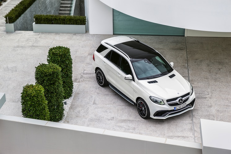 2016 Mercedes Benz GLE63 AMG S Top View