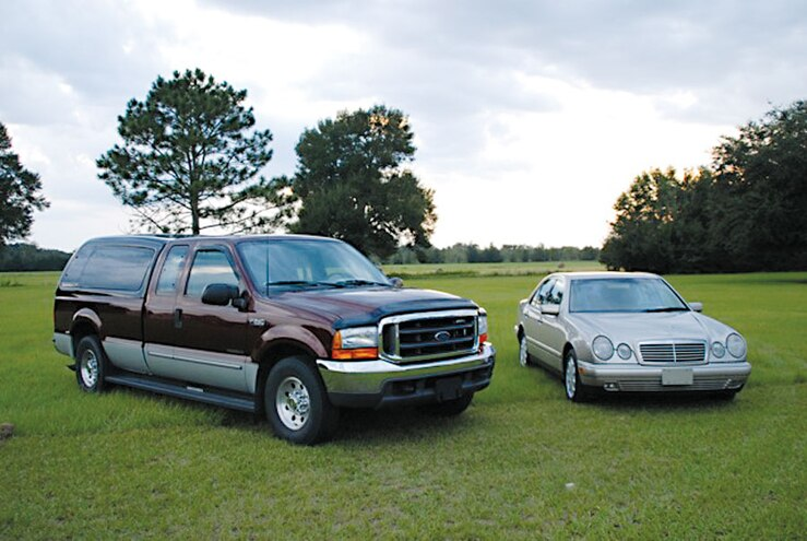 2000 Ford F 250 And 1999 Mercedes Benz E300td