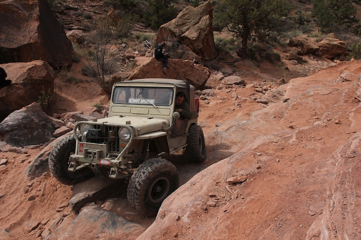 """You gotta see Verne """"I only go hard"""" Simons wheeling his flatfender at EJS 2016 in Moab, Day 5"""