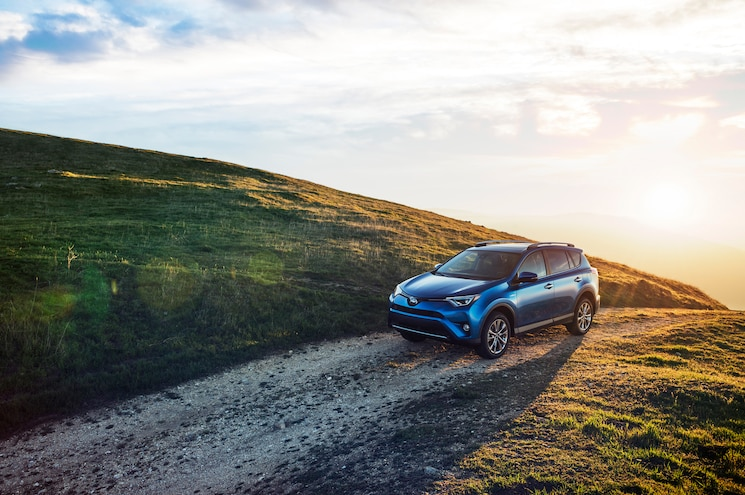 2016 Toyota RAV4 Hybrid Front Side View Wide