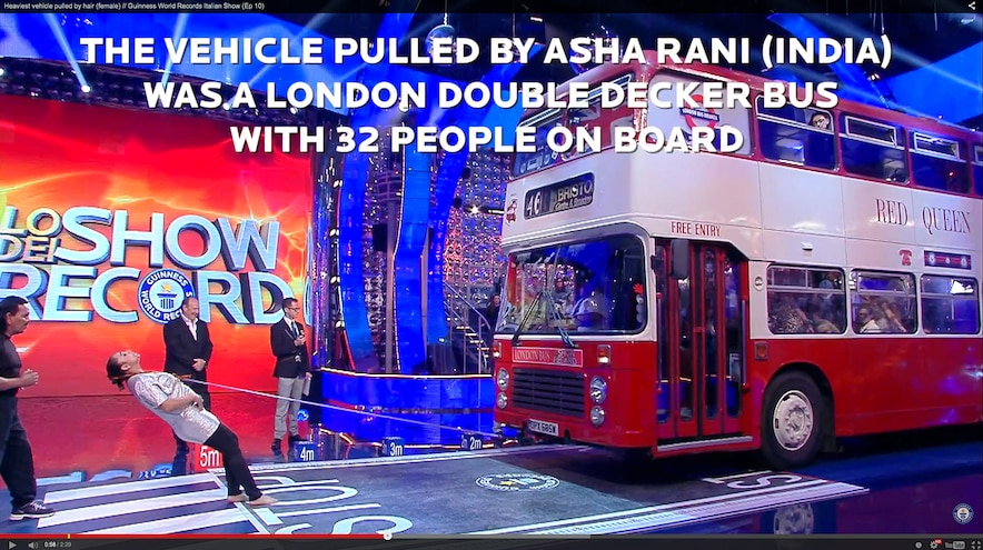 008 Auto News 8 Lug Work Truck Guinness Book Of World Records The Iron Queen India Heaviest Vehicle Pulled By Hair Double Decker Bus