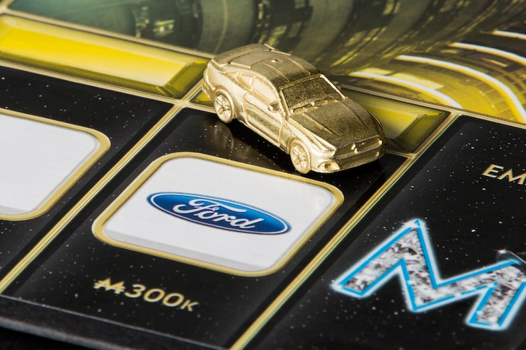 007 Auto News 8 Lug Work Truck Ford Mustang Monopoly Empire Board Game Token Piece Play