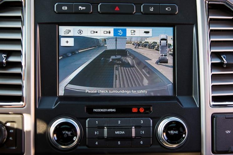 001 Auto News 8 Lug Work Truck Ford Super Duty Trailer Reverse Guidance Cameras Safety Technology Gooseneck Fifth Wheel