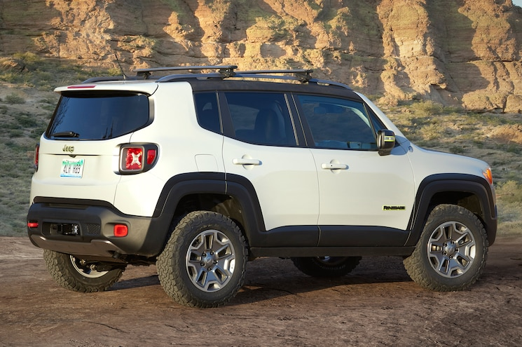 Jeep Renegade Commander Concept Rear Side View