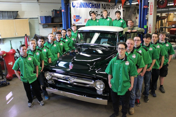 Syracuse, New York, High School Raffling 1956 Ford F-100 To Support Shop Program