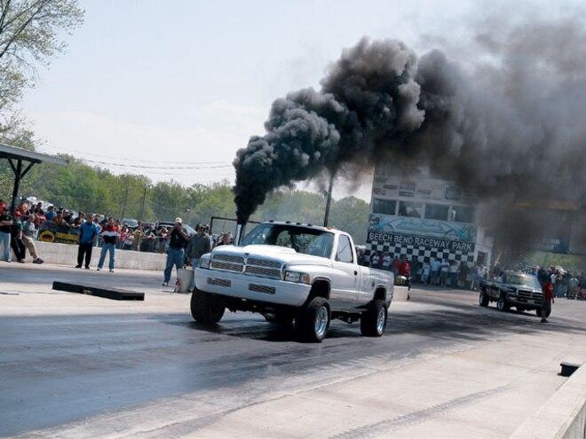 2002 Dodge Ram Cummins dragstrip