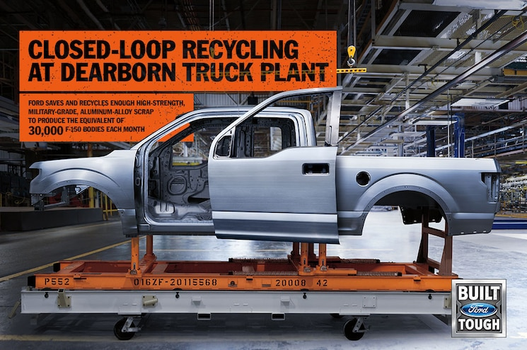 Ford Recycles Enough Aluminum Per Month for 30,000 F-150s