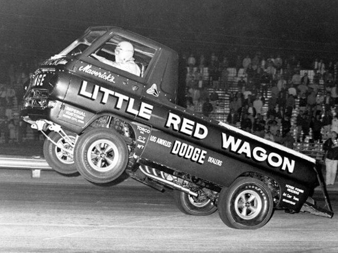 drag Racing Trucks little Red Wagon