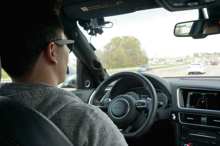 Delphi Automated Drive Audi Sq5 Interior With Driver