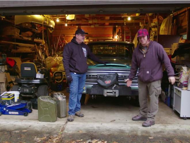 Jeep Wagoneer In Garage