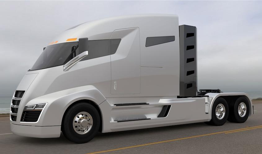 Nikola Motor Company Shows 3,700 lb-ft Class 8 Hybrid Prototype