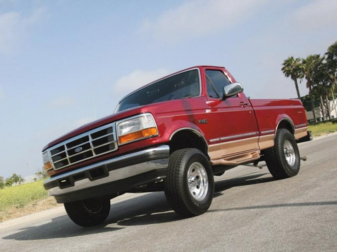 1995 Ford F150 Cummins Diesel left Front Angle