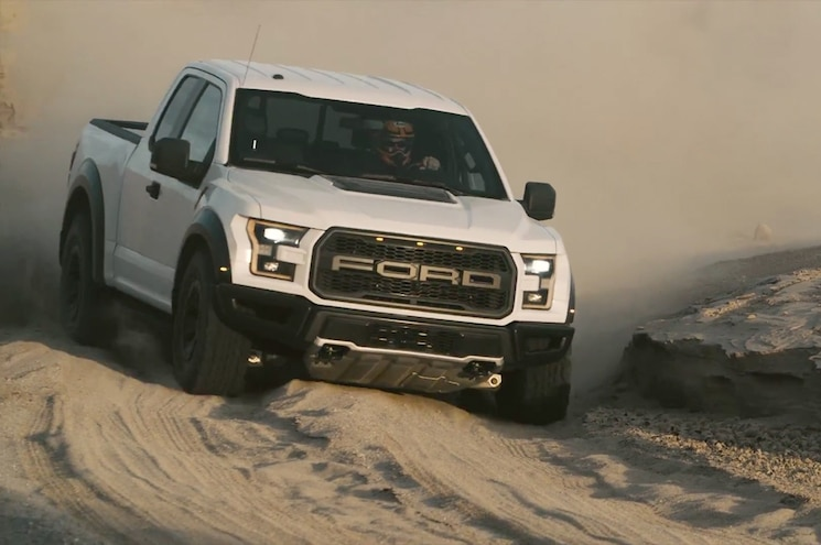 Ford Lays Waste to Desert Obstacles in New F-150 Raptor Video