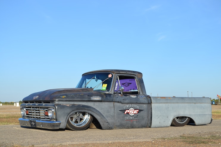 A 650hp 6.0L Power Stroke Engine Makes this Dropped 1964 Ford F-100 Extra Cool