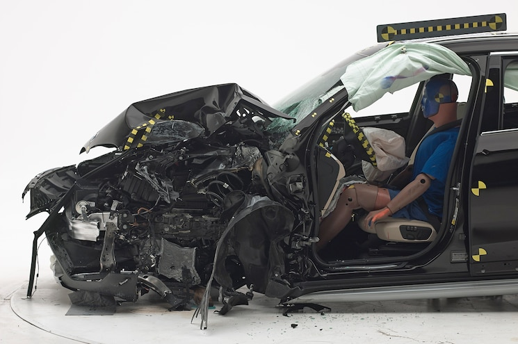 2016 BMW X1 IIHS Testing Front End Crash Results