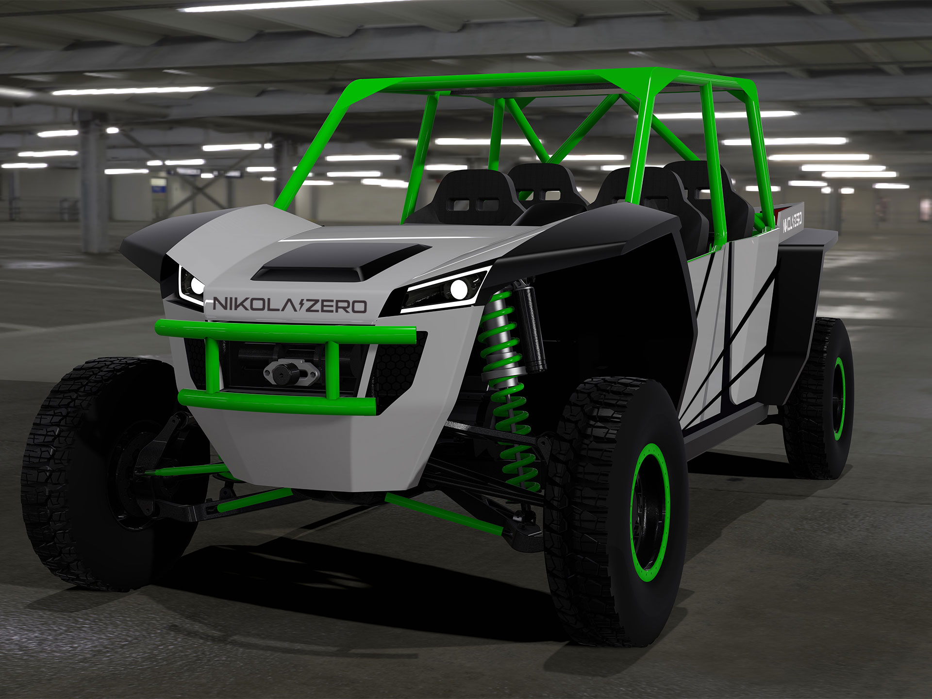 Nikola Zero Electric UTV Packs 520 HP & 20 Inches of Travel