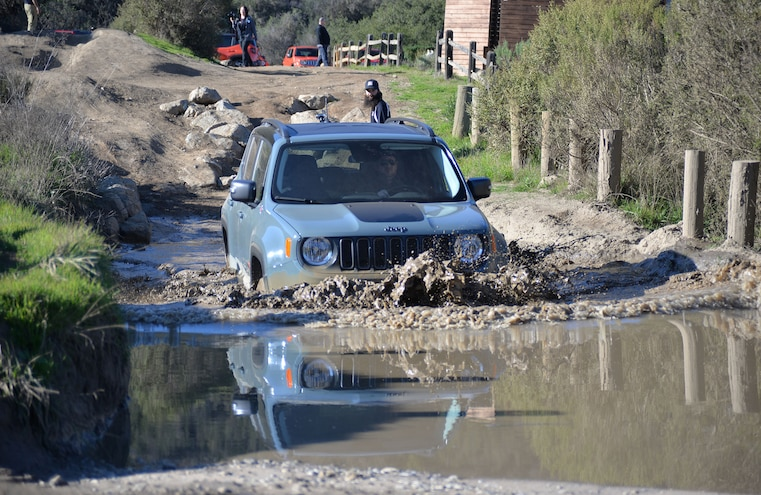 2015 Jeep Renegade In Mud