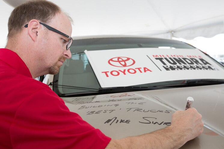 2007 Toyota Tundra Million Mile Hood Signed
