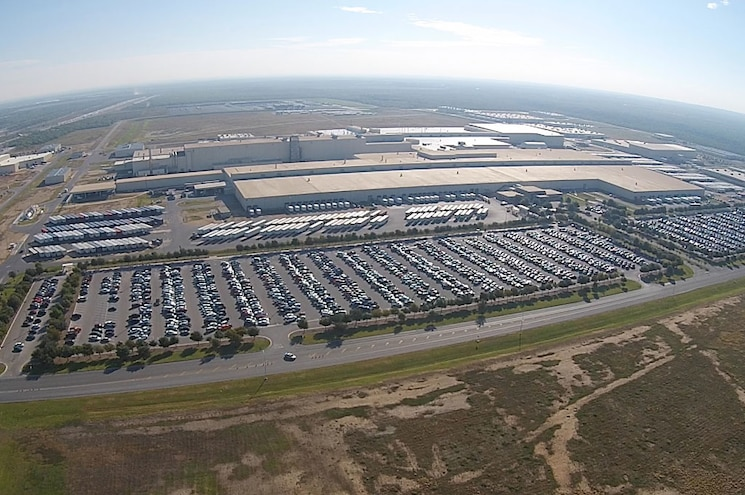 Toyota Truck Manufacturing Texas Aerial Shot