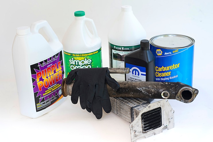 We bench-test diesel EGR Cooler cleaning solutions