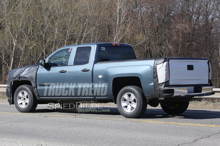 2017 Chevrolet Silverado 1500 Double Cab Rear Three Quarter Wide