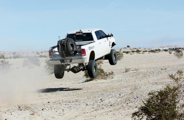 Dodge Ram Jumping In The Desert