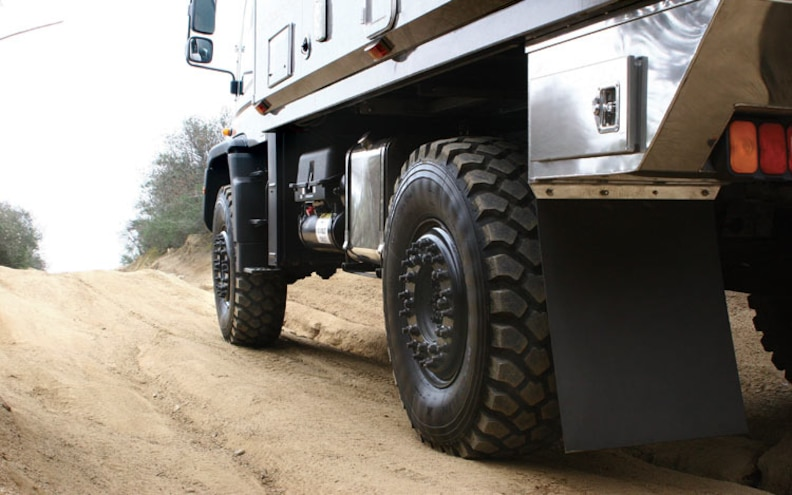 mercedes Unimog Global X Vehicle rear Side View