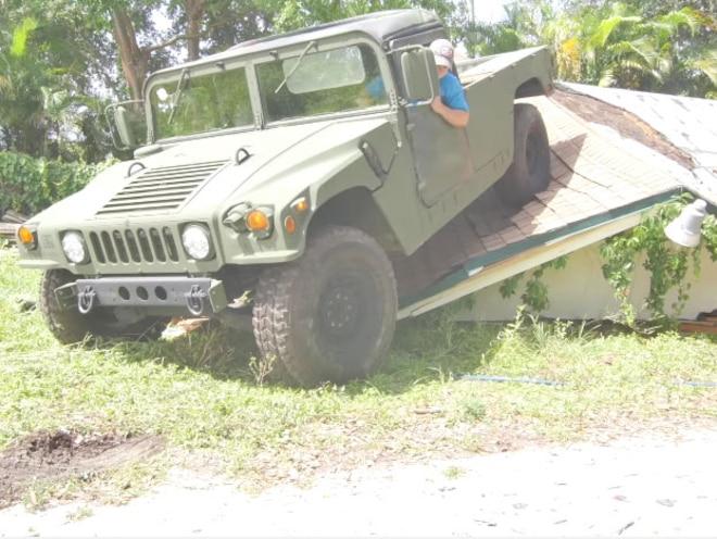 Humvees Make Quick Work of House Demolition - Video