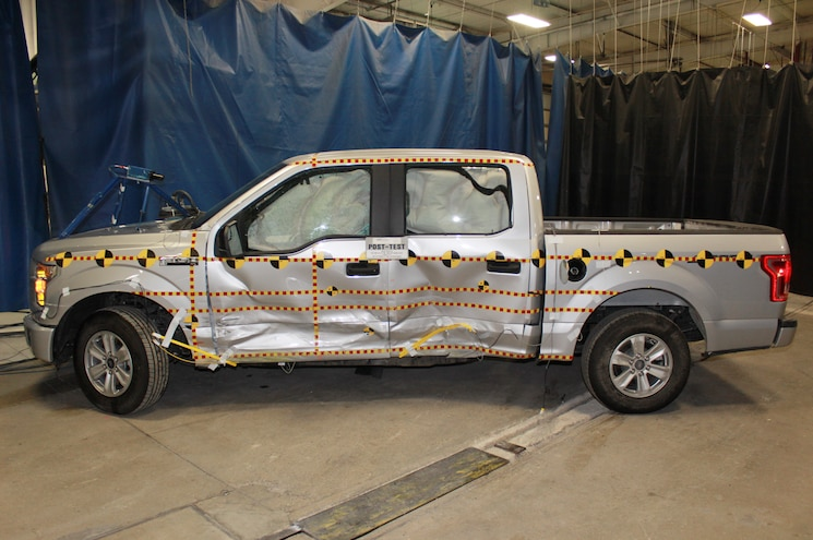 2015 Ford F 150 SuperCrew NHTSA Test Side Crash