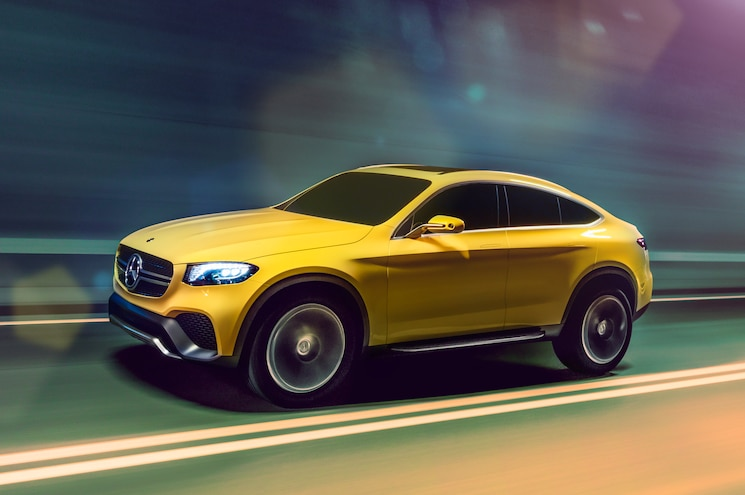 Mercedes Benz Concept GLC Coupe Front Three Quarter In Motion 03