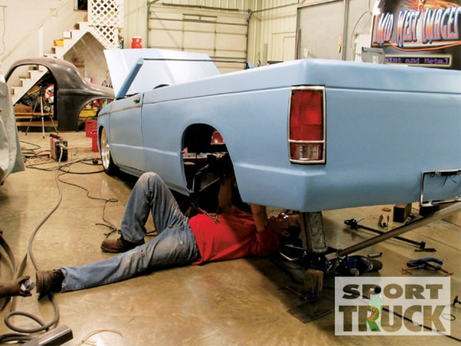Chevy S10 - Airbagit - Four Link Install - Sport Truck Magazine