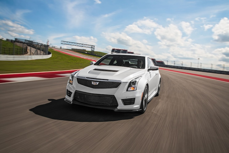 2016 Cadillac ATS V Coupe Front End In Motion 03