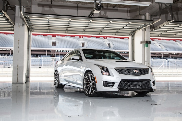 2016 Cadillac ATS V Coupe Front Three Quarters 04