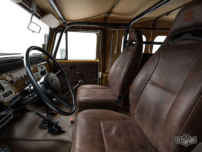 Restored 1981 Toyota Land Crusier Interior