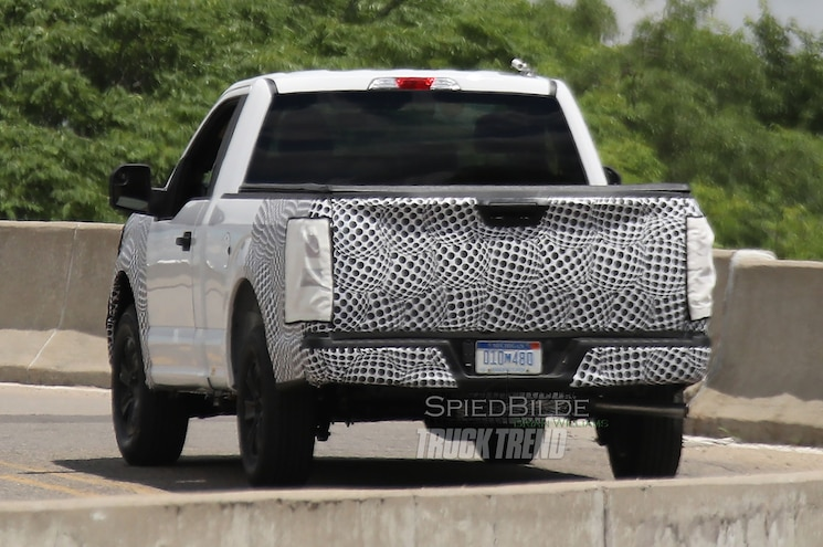 2018 Ford F 150 Spied Rear Quarter View 01