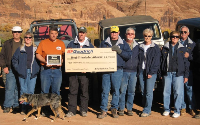 pritchett Canyon Off Road Trail Award check Presentation