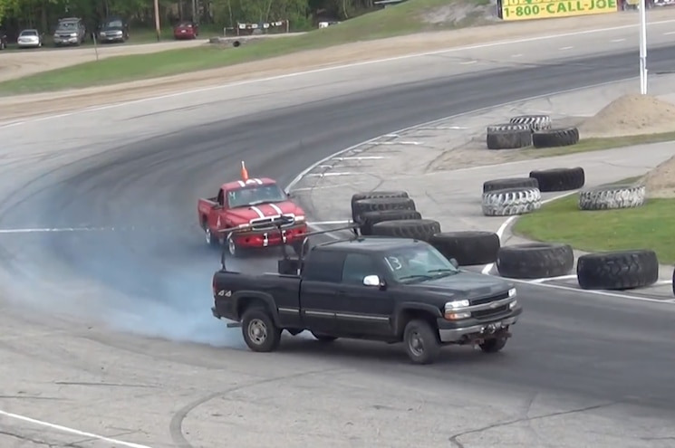 Four Minutes of Drifting with a Chevrolet Silverado 2500HD Work Truck