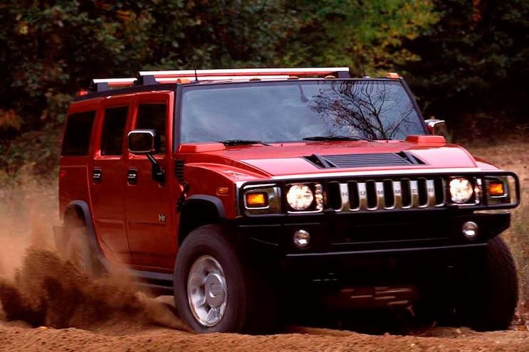Overrated 4x4 Hummer H2 Low Angle Front Three Quarter