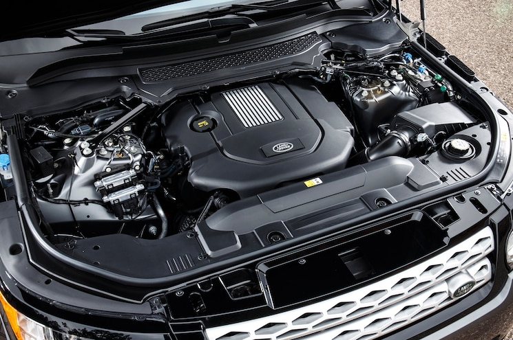 Ford F 150 Diesel Engine Inside Of A Range Rover