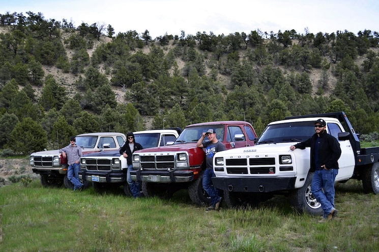 Four First Gen Cummins Dodge Rams