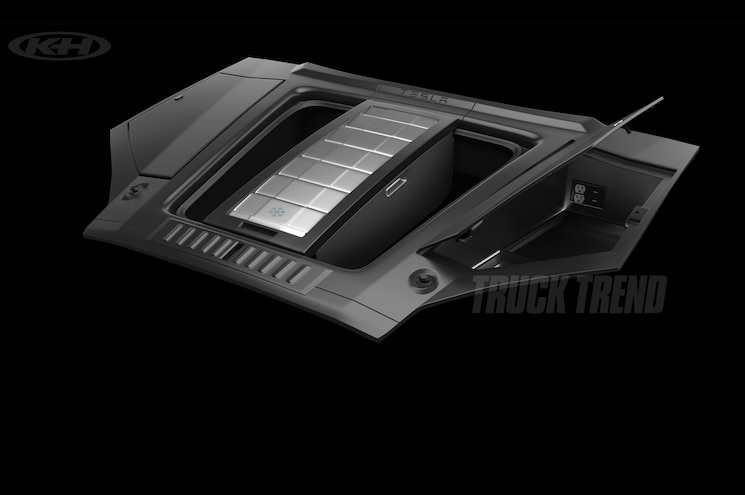 Tesla Pickup Truck Frunk Side