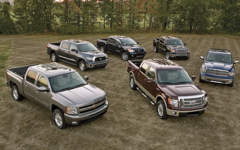 Truck Comparison: 2009 Ford vs. Chevy vs. Dodge vs. Nissan vs. GMC vs. Toyota