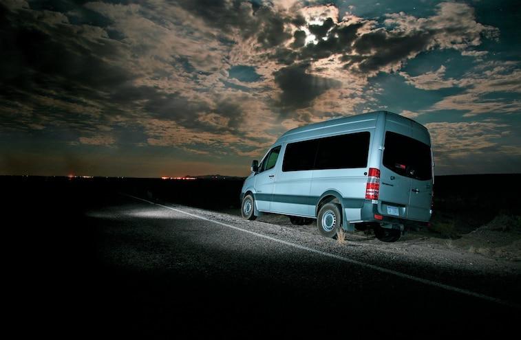 Dodge Sprinter Van In Desert