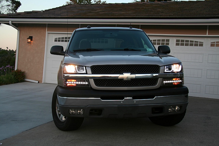 2004 Chevrolet Avalanche Anzo Light Upgrade Finished Headlights