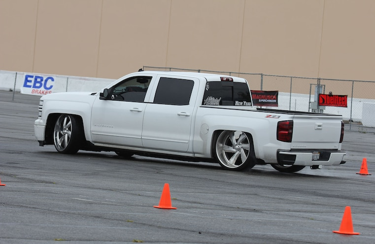 2015 Chevy Silverado On Obstacle Course